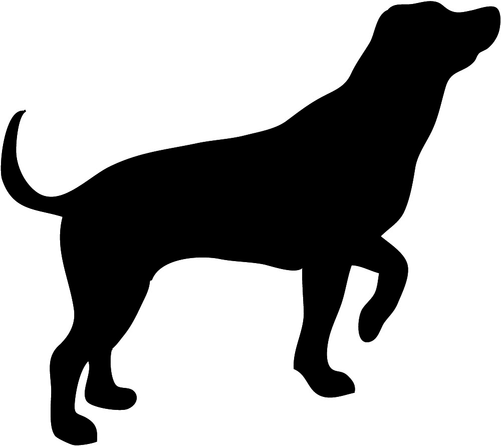 Black Lab Silhouette Clip Art - Cliparts.co