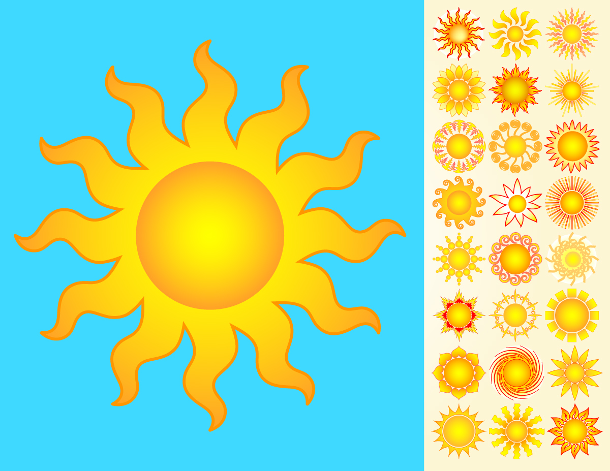Suns Vector Pack | GraphicsKeeper.