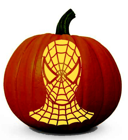 Spiderman pumpkin templates free.