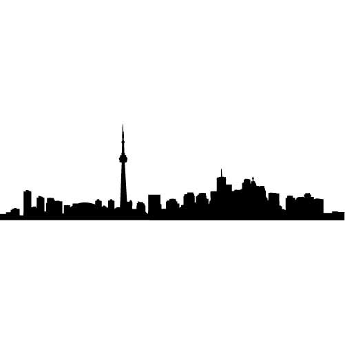 Toronto Skyline Silhouette LARGE Vinyl Wall Decal by wallstickz ...