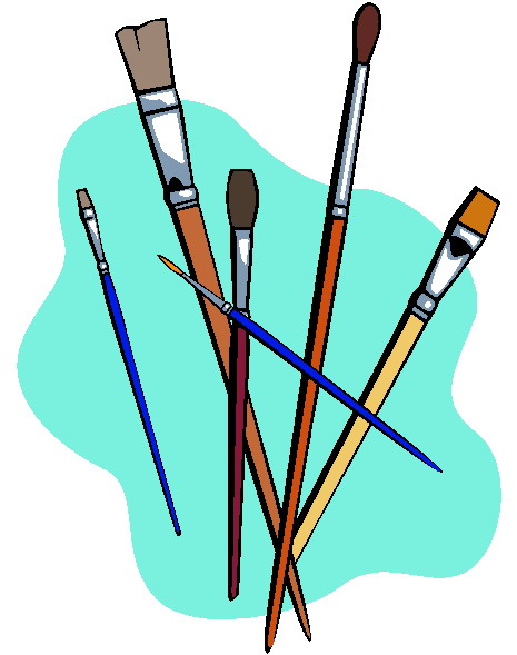 A Canvas And Paint Clip Art