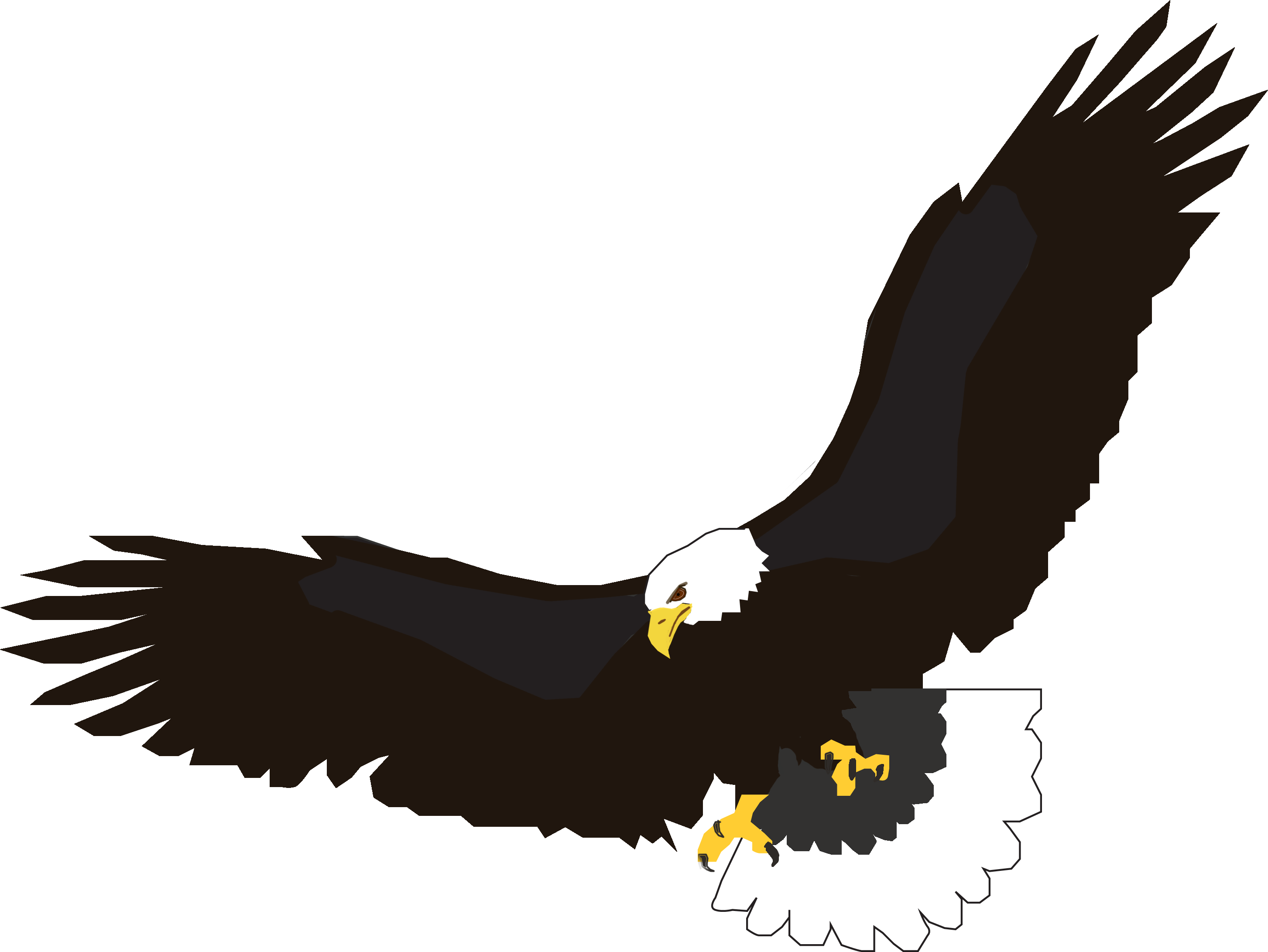 flying eagle clip art - photo #2