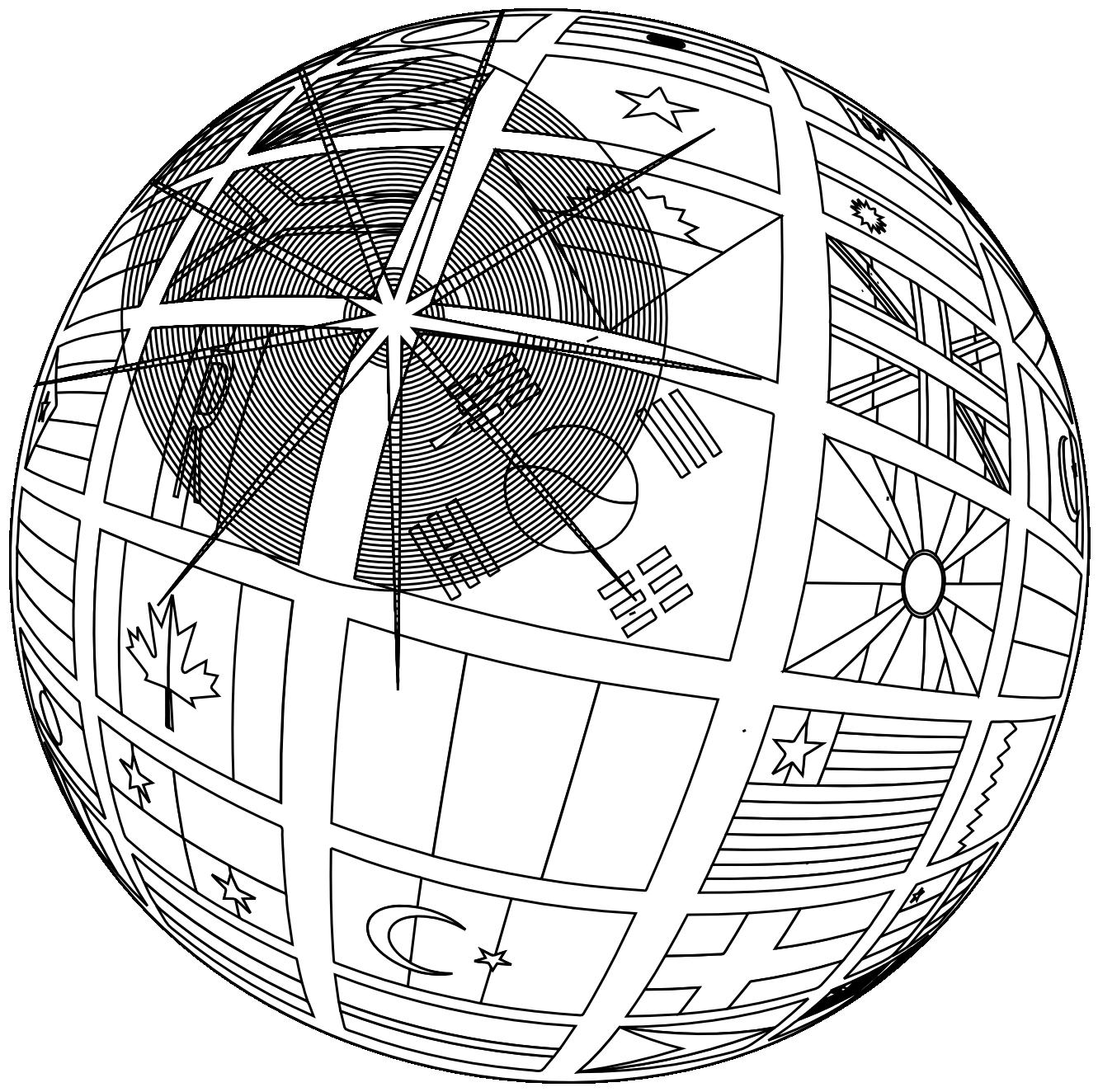 Vintage Globe Line Drawing : Globe line art cliparts