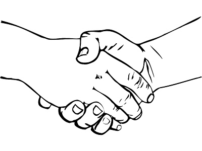 Shaking Hands Drawing - ClipArt Best - Cliparts.co