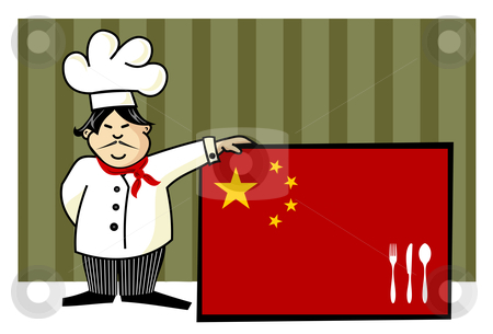 Chef of chinese cuisine stock vector