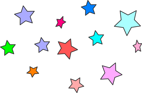 blue star clusters clip art - photo #1