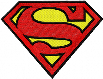 Superman logo machine embroidery design