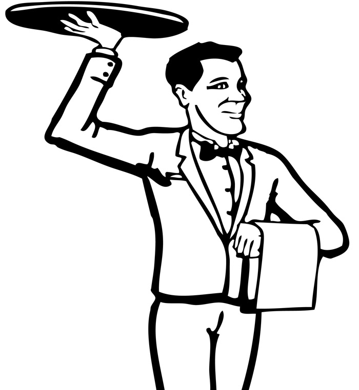 Clip Art Waiter on scotts