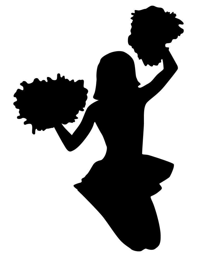cheerleader clipart svg - photo #40