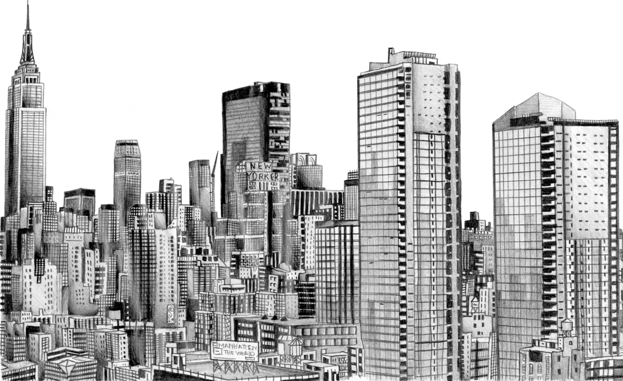 Skyline Drawing - Cliparts.co