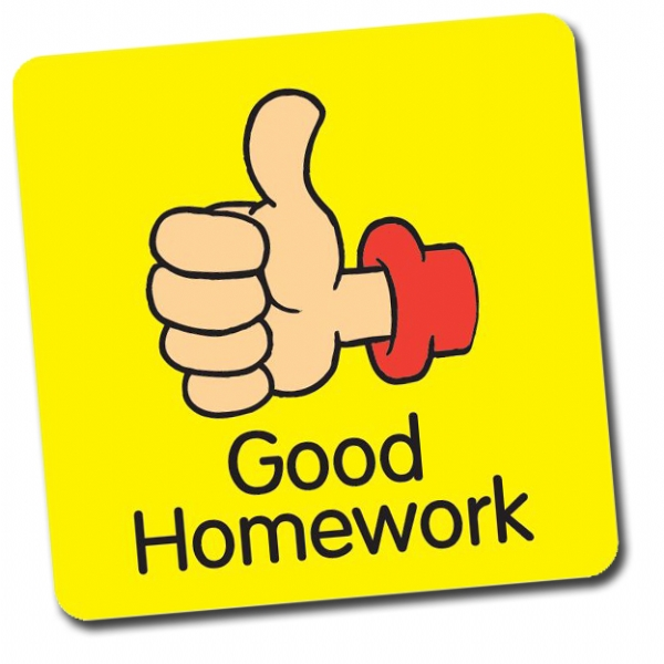 Good Homework Thumb 16mm Square Stickers Sheet of 140
