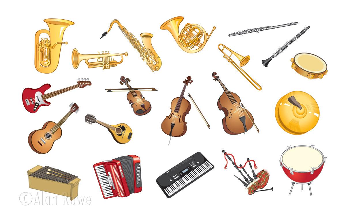 Vocabolario illustrato :: Gli strumenti musicali