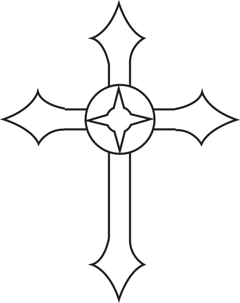cool pictures of crosses to draw clipartsco