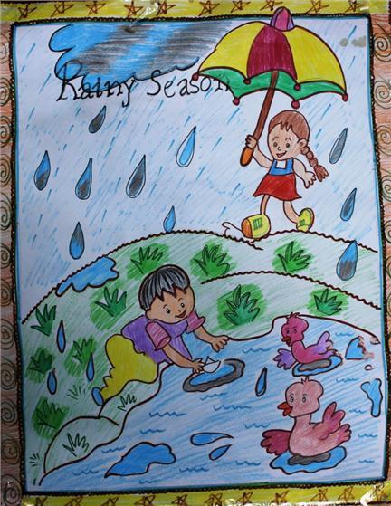 essay on rainy season for kids