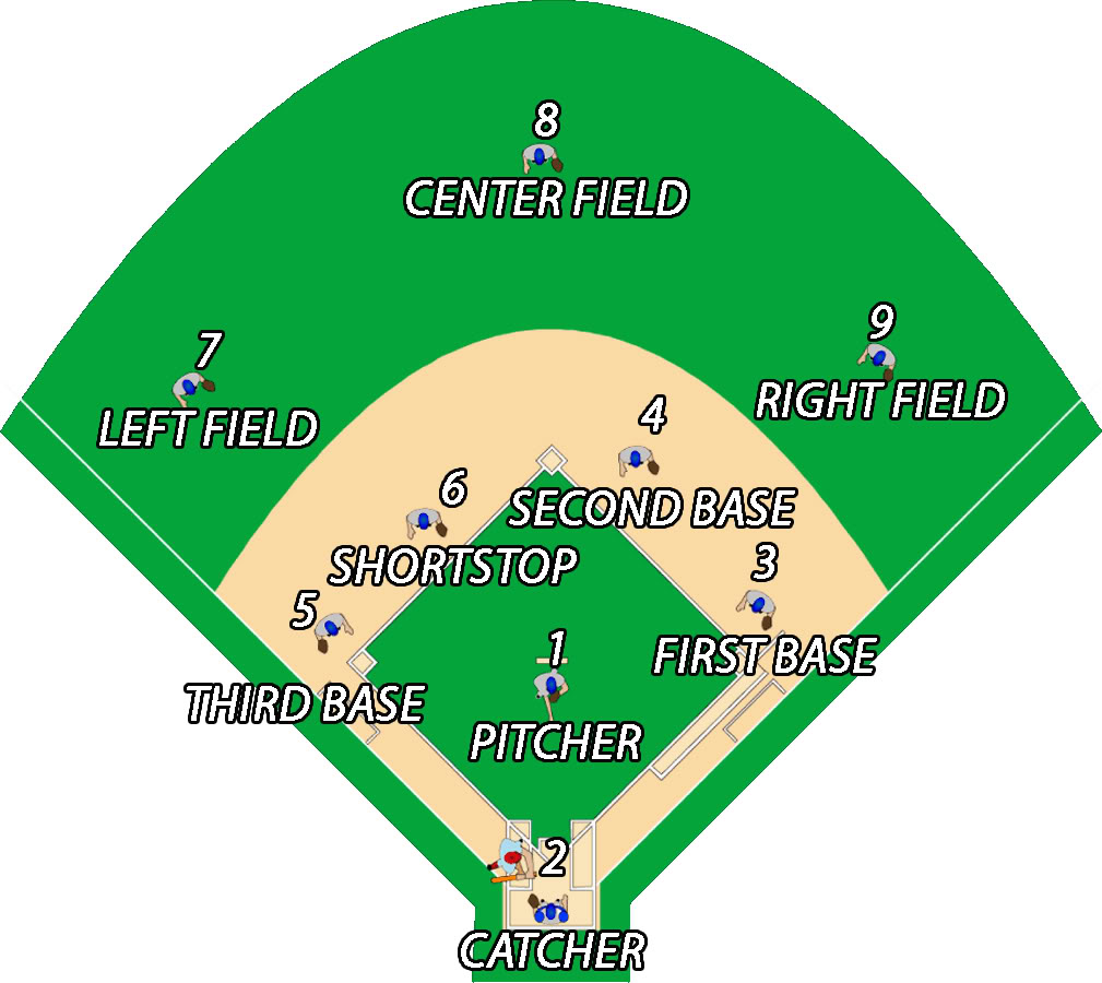 Baseball Positions Diagram Cliparts Co