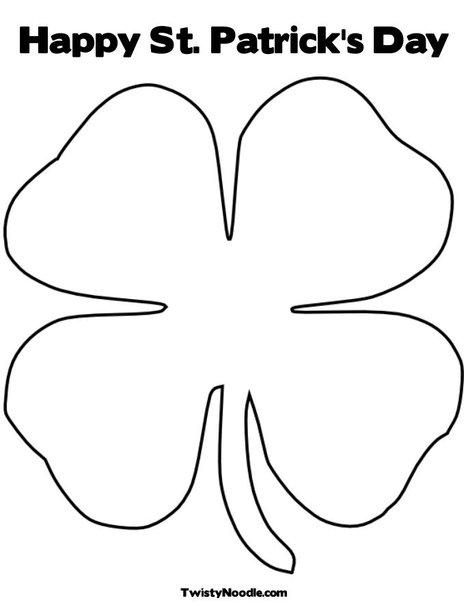 Four Leaf Clover Outline