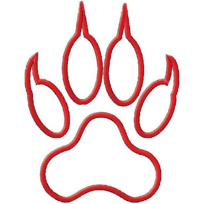 Tiger Paw Print Clip Art Border
