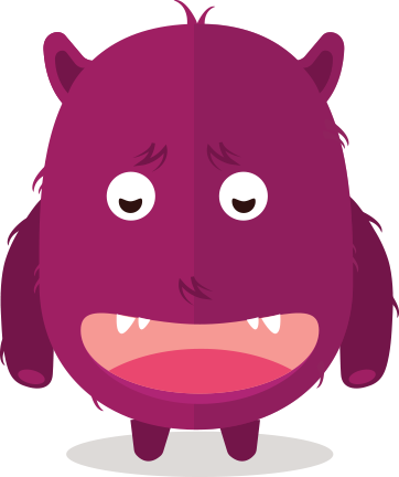 Cute Fun Monster Clipart