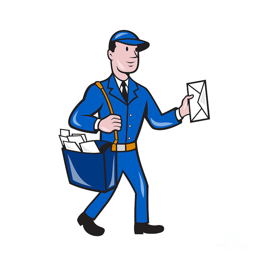 postman – acsumailman postman delivery worker isolated cartoon by aloysius