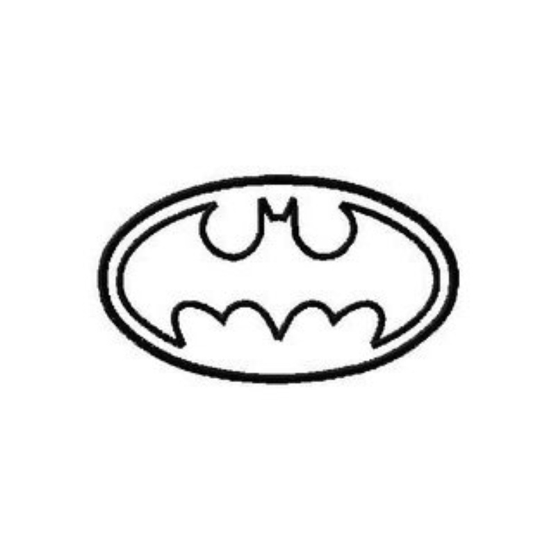 Applique And Stitched Batman Logo 10 Different Sizes Machine ...