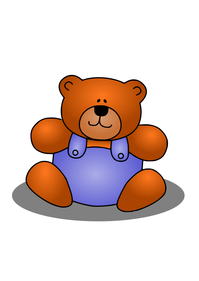 Teddy Bear SVG Vector file, vector clip art svg file