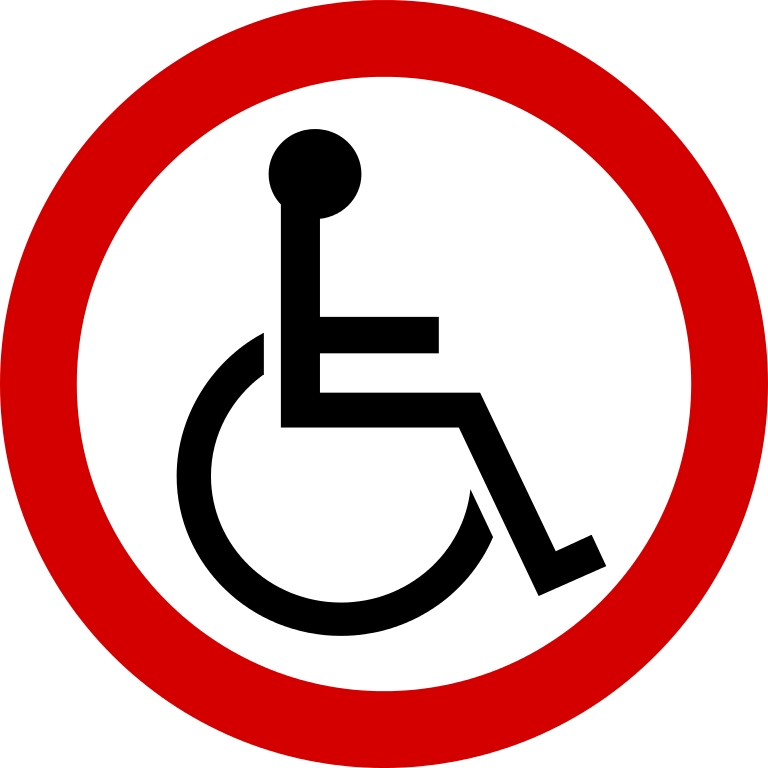 This is an image of Peaceful Printable Handicap Sign