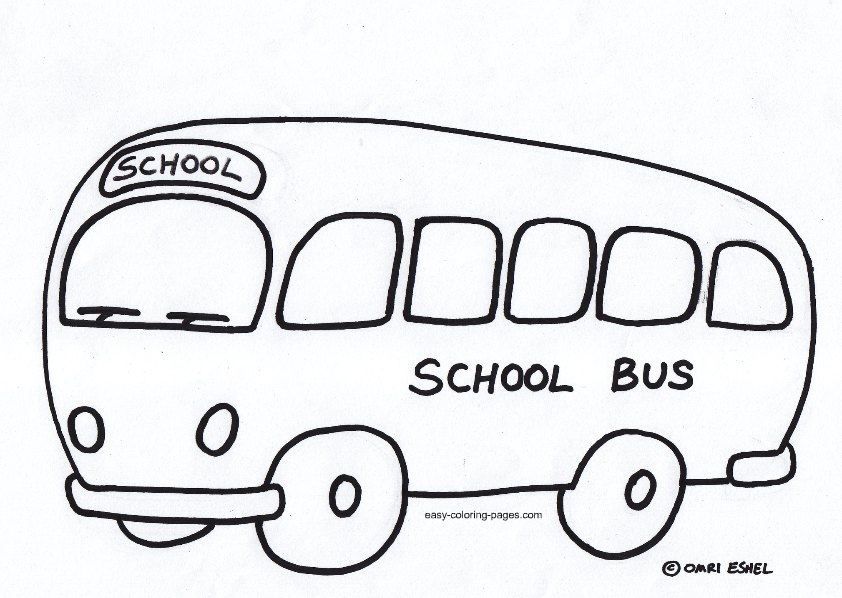 School Bus Coloring Pages For Kindergarten : Bus outline cliparts