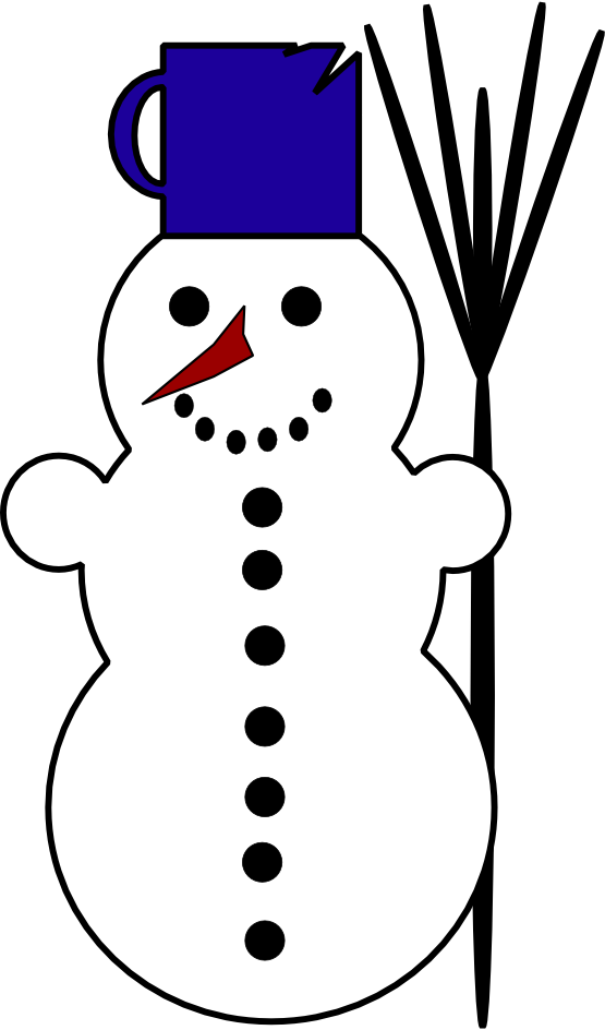 Snow Man Clipart