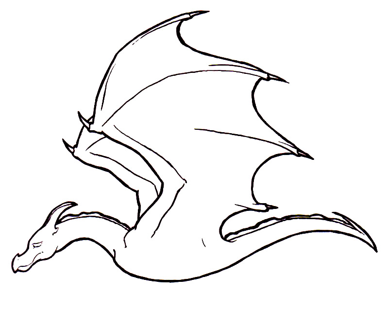 Dragon Lineart : Dragon line art cliparts