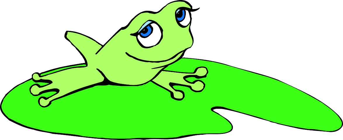 Frog On Lily Pad Clipart
