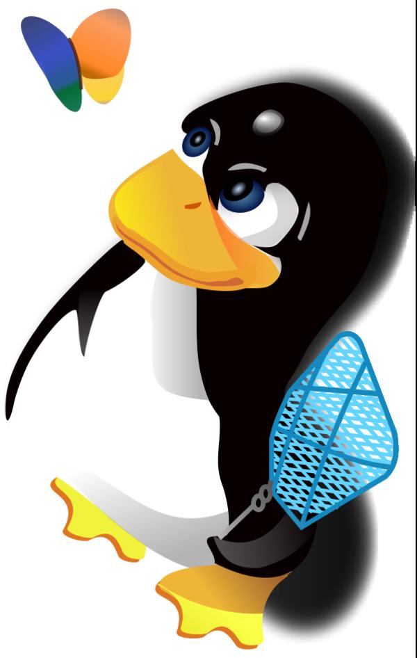 Tux Penguin Microsoft Logo Butterfly - vector Clip Art