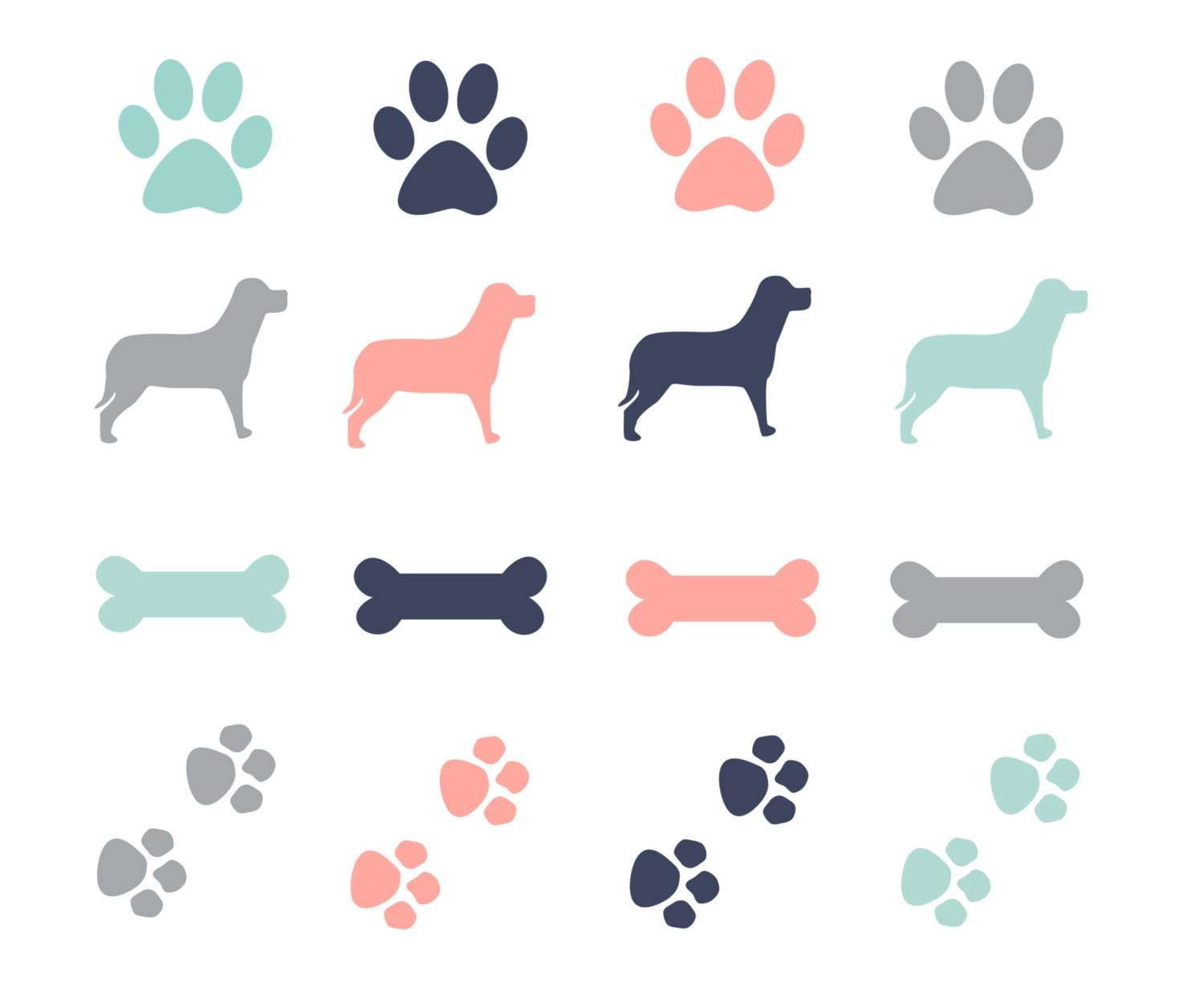 Pictures of puppy paw prints