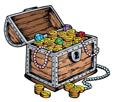 Treasure chest drawing - clipart #