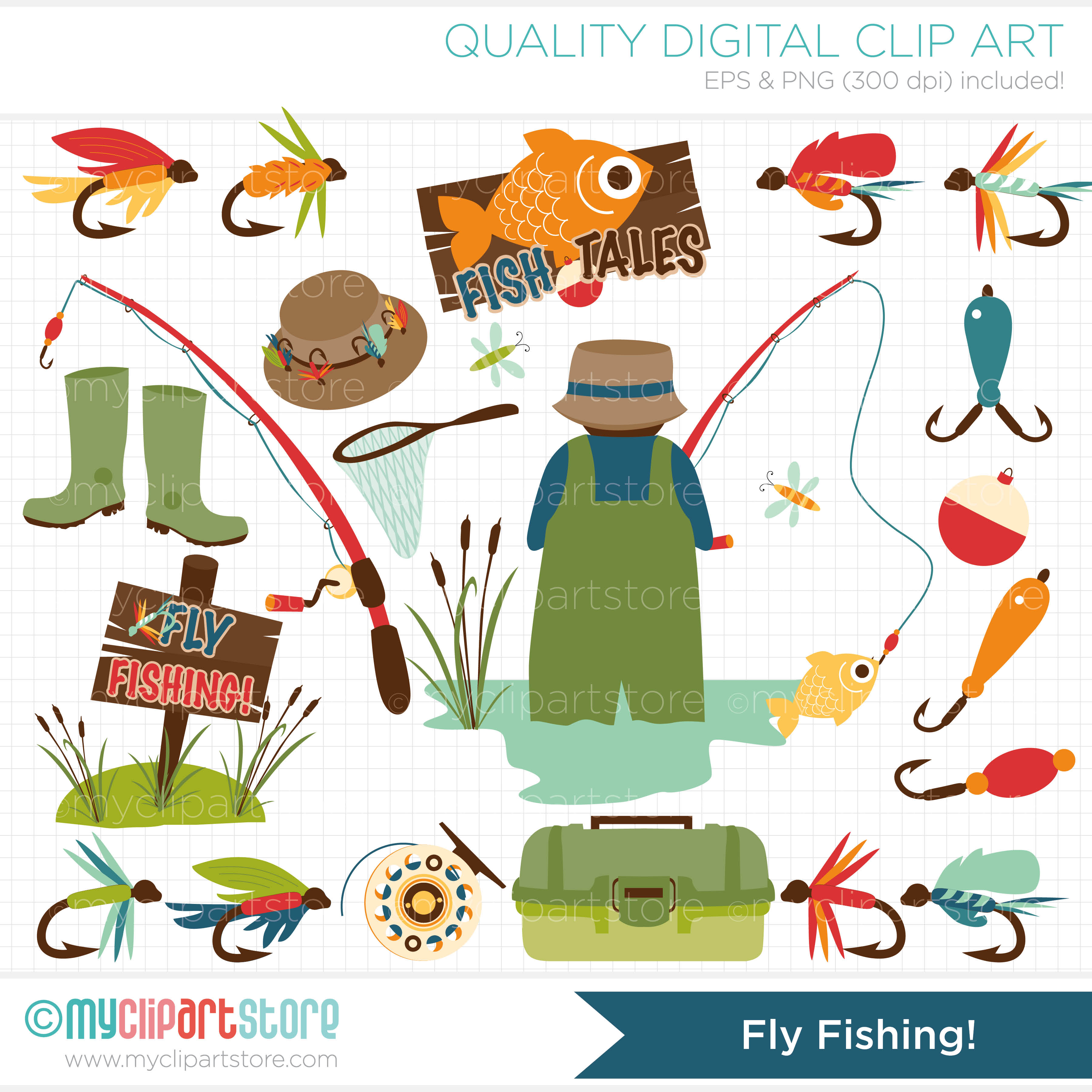 Fisherman clip art for Fishing stuff for kids