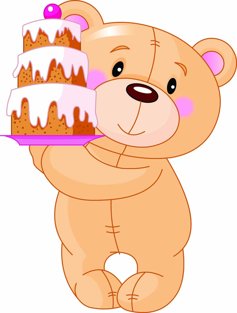 Cute cartoon bear vector Free Vector / 4Vector