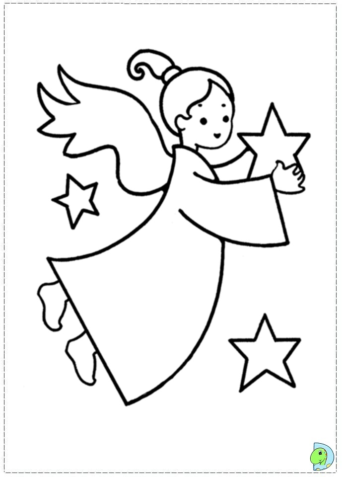printable christmas coloring pages angels - photo#36