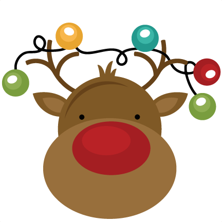 Cute reindeer head clipart - photo#11