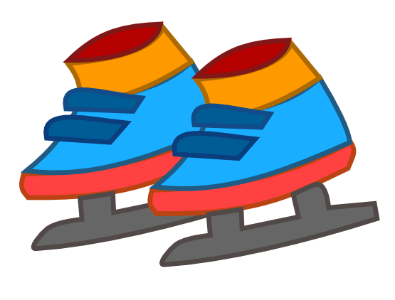 Free Kid's Ice Skating Shoes Clip Art