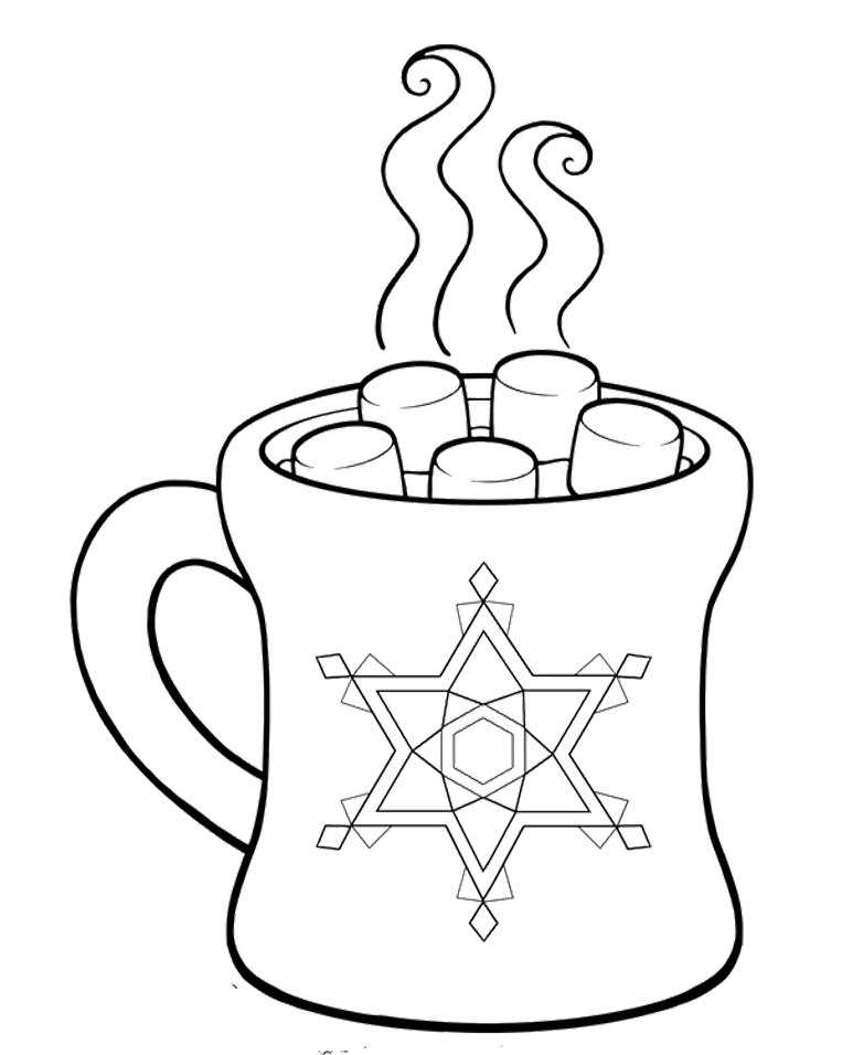 Mug Of Hot Chocolate Coloring Page