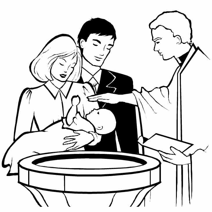 Image result for baptism clipart catholic