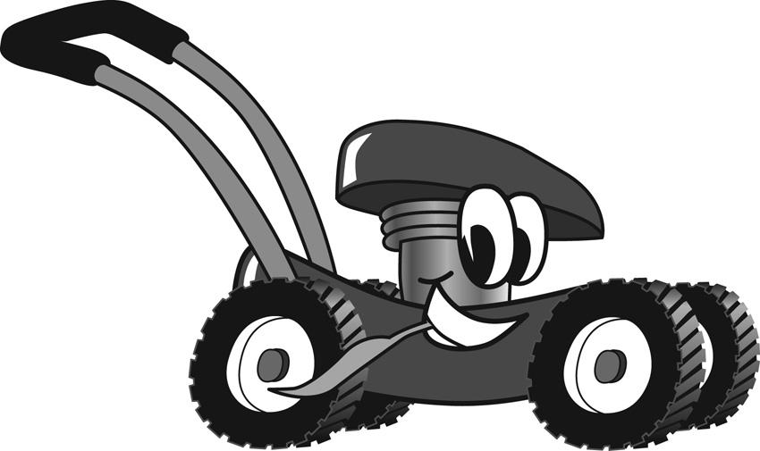 Lawn Mower Clipart Black And White Brain bulder #4  miss