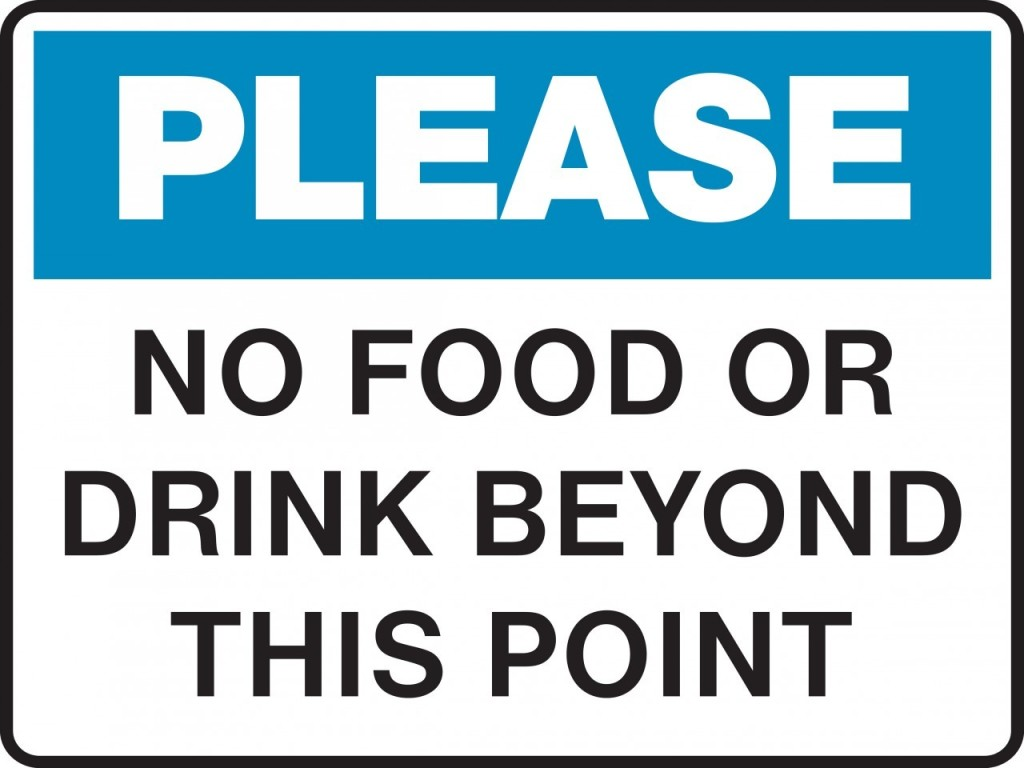 Tactueux image for no food or drink signs printable