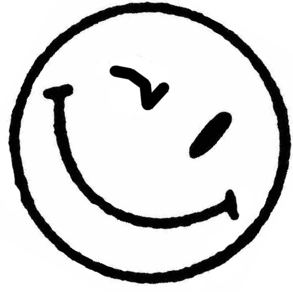 Line Drawing Smiling Face : Happy face wink cliparts