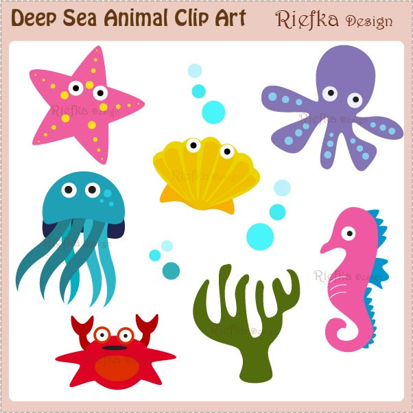 Sea Animal Art - Cliparts.co