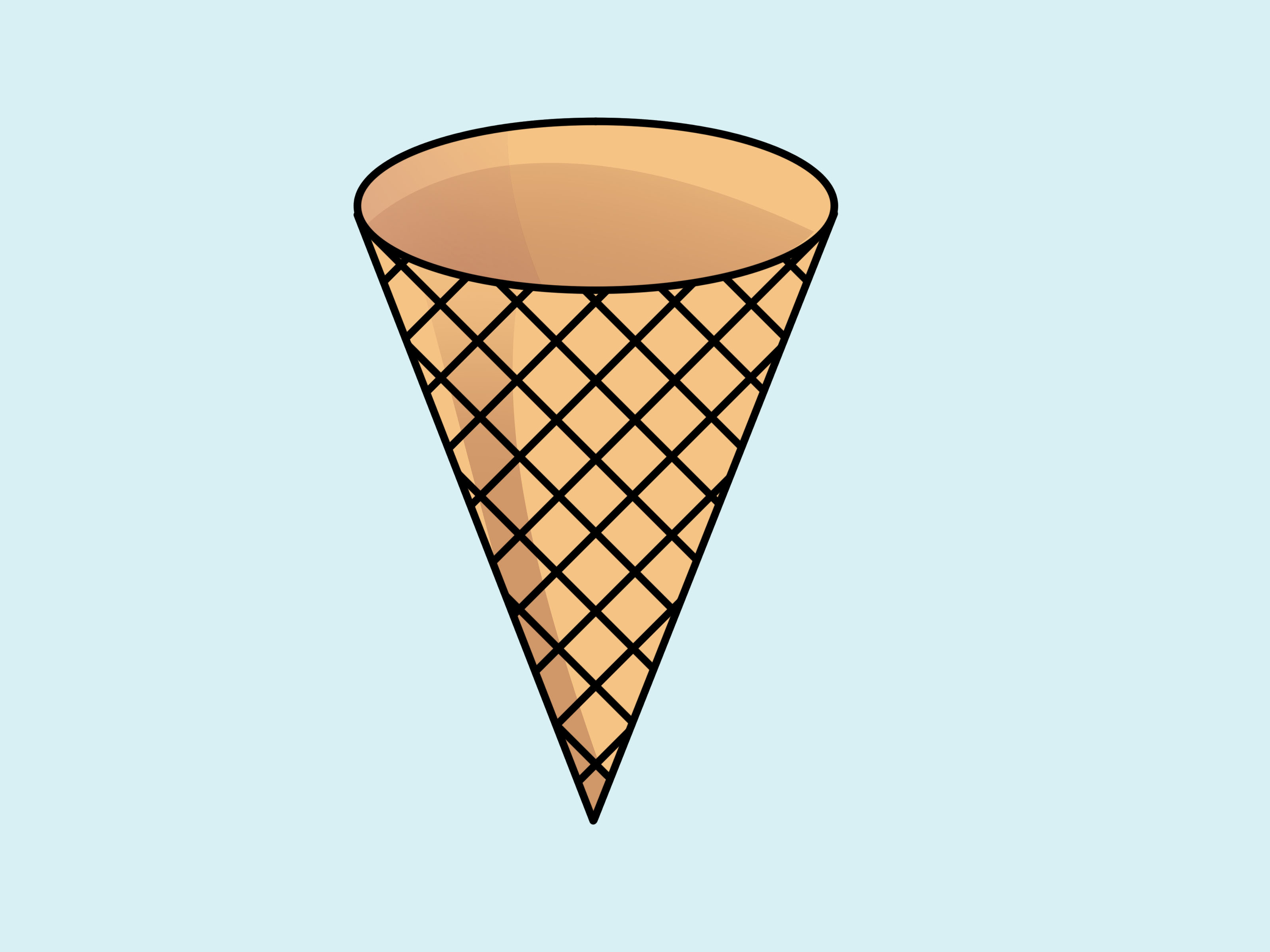 Picture Of A Ice Cream Cone - Cliparts.co