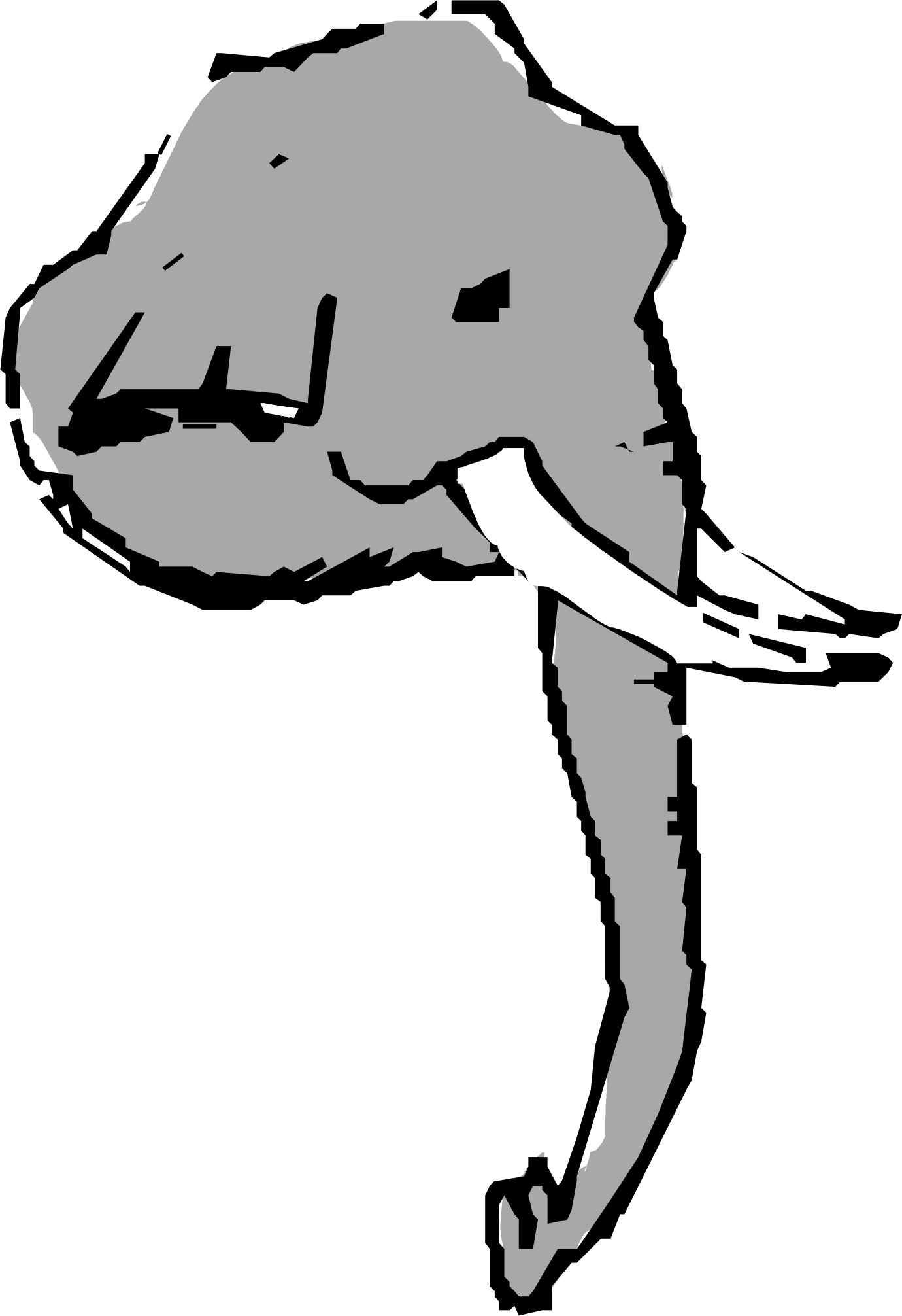 elephant head clipart - photo #20