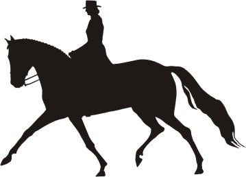 Horse silhouette dressage - photo#19