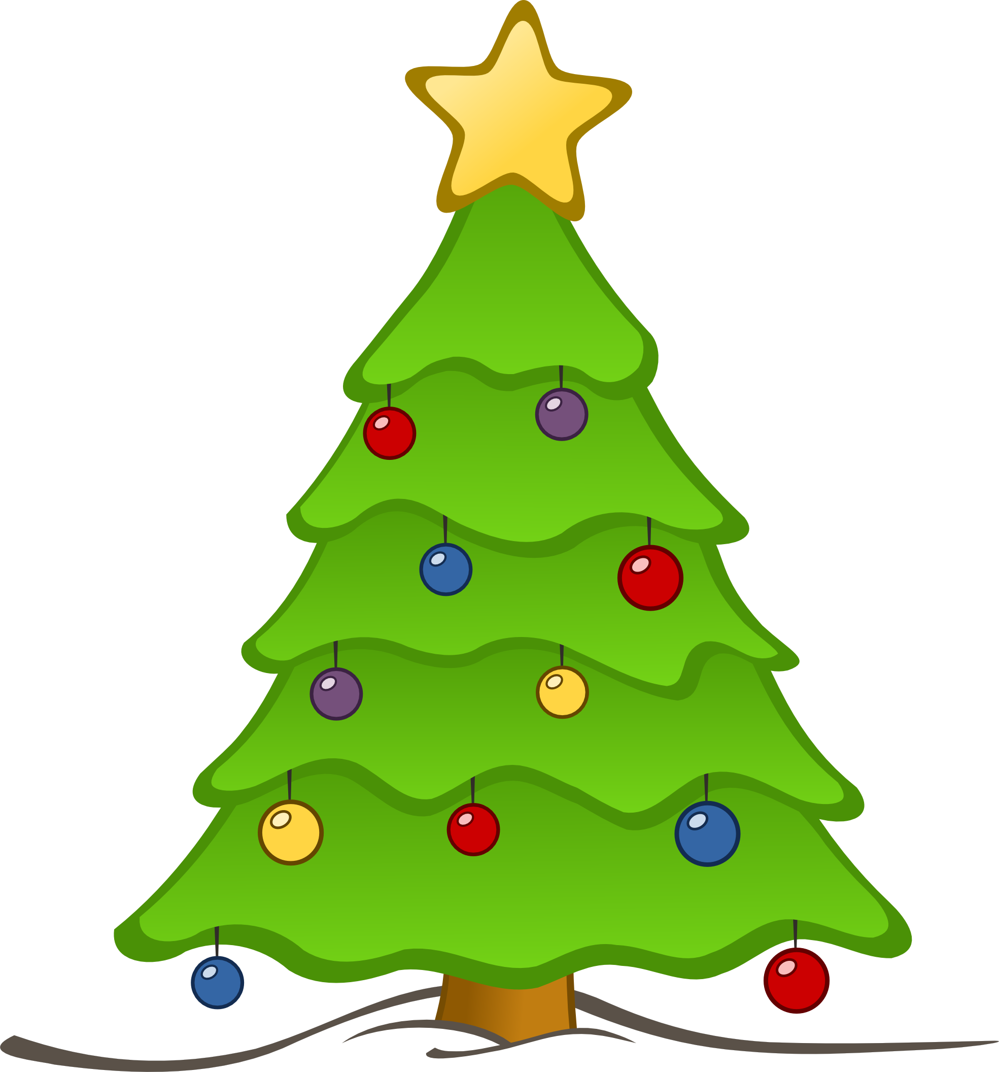 Xmas Stuff For > Christmas Tree Candles Clip Art