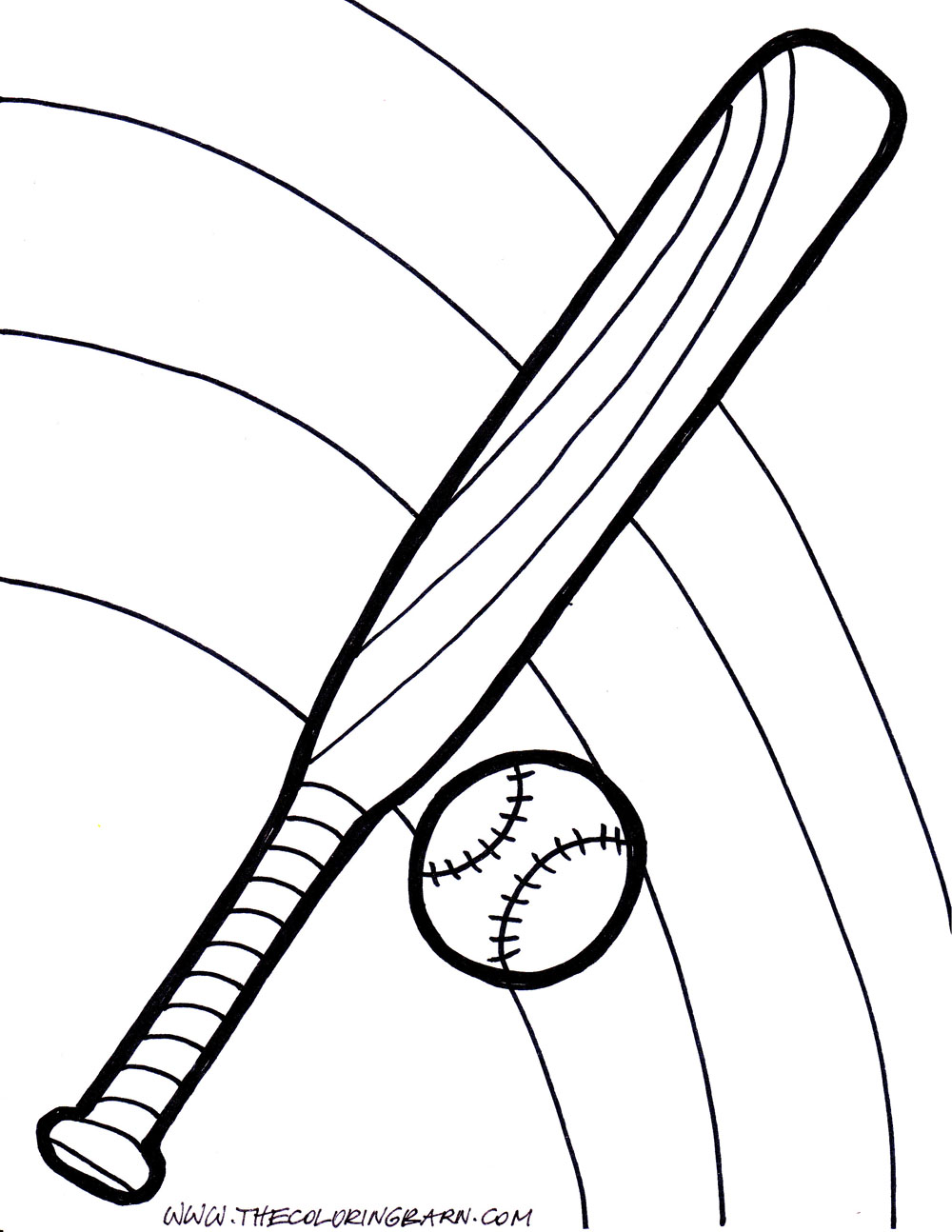 coloring pages of baseball bats - photo#28