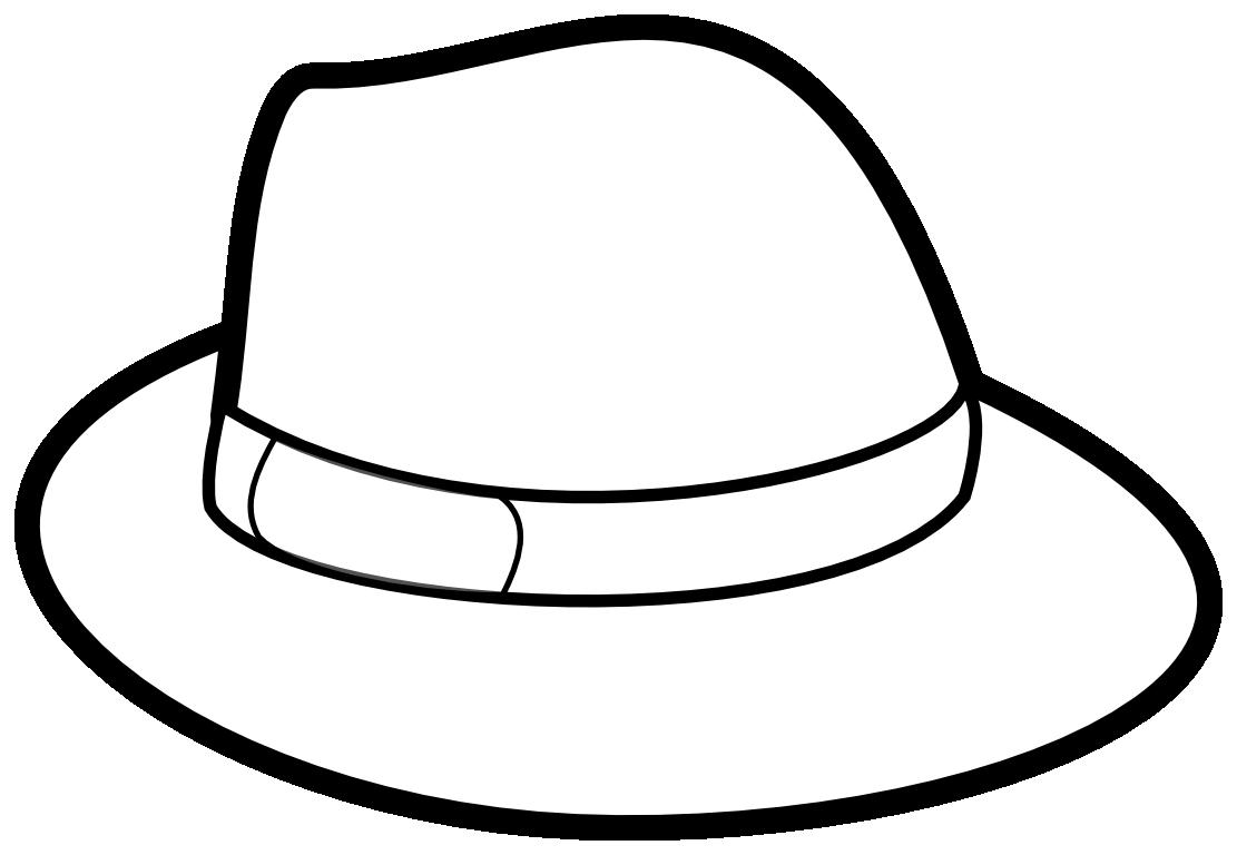 Шляпа рисунок раскраска